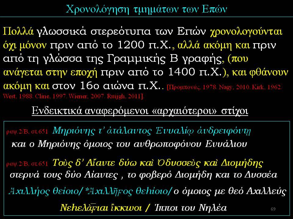 παραδείγματα με χρονολόγηση